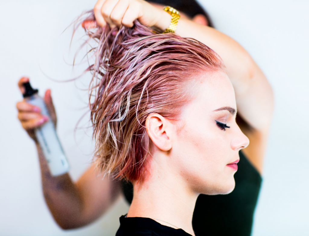 rainbow hair coloring with ease