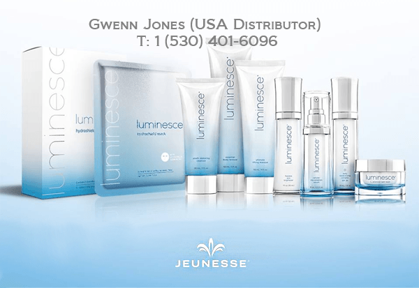 Complete Juenesse Luminesce Skin Care Line - USA-made and packaged - certified distributor Gwenn Jones